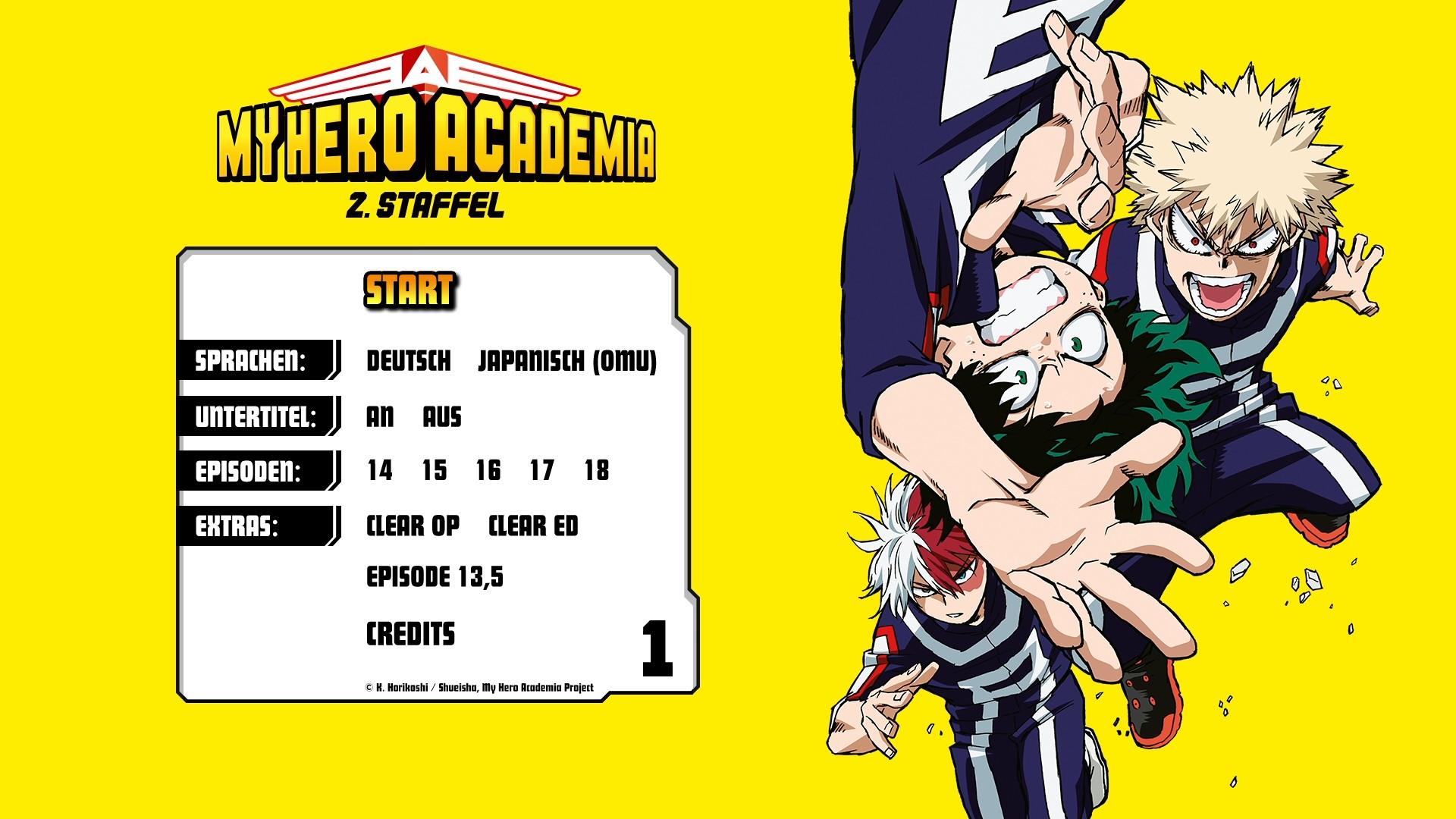 My Hero Academia Staffel 2 Deutsche Synchro